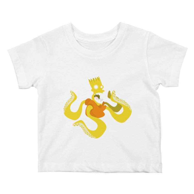 Giant Squid! Attack! Kids Baby T-Shirt by Tribe of the Infinite