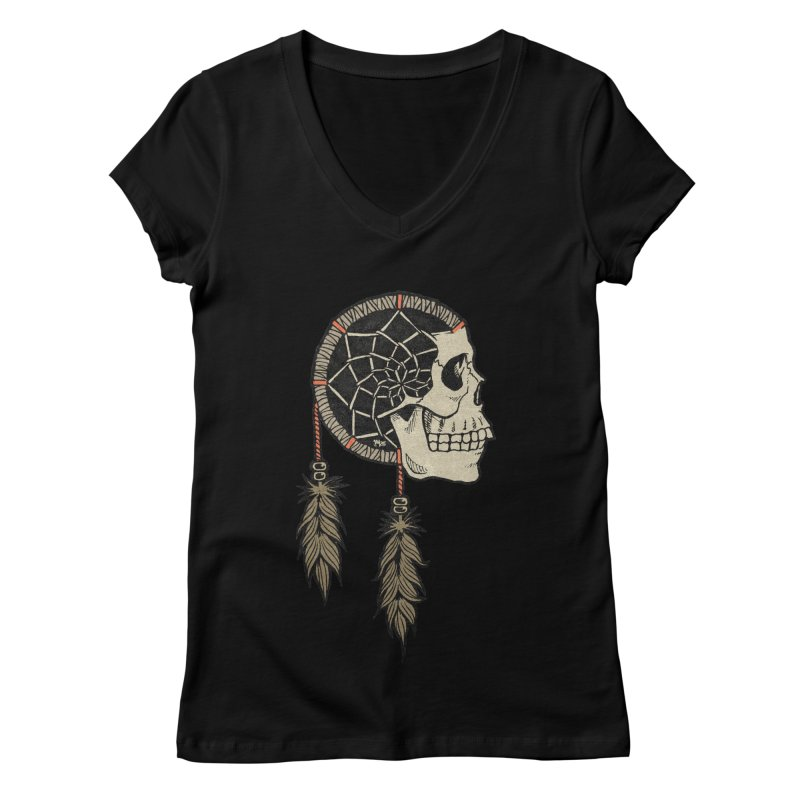 Nightmare Catcher Women's Regular V-Neck by Tripledead Shop