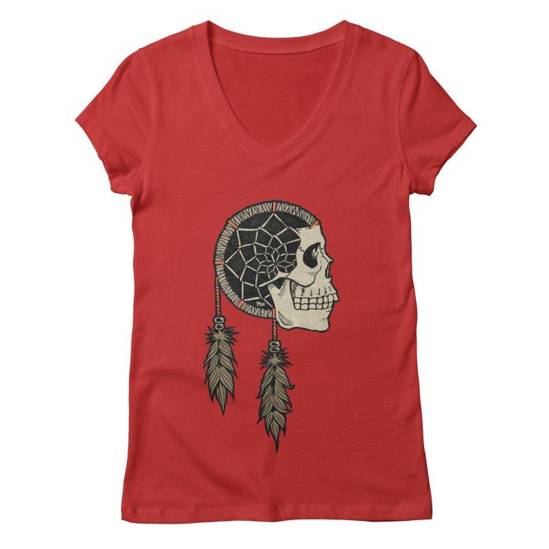 Nightmare Catcher Women's Regular V-Neck by Tripledead Shop