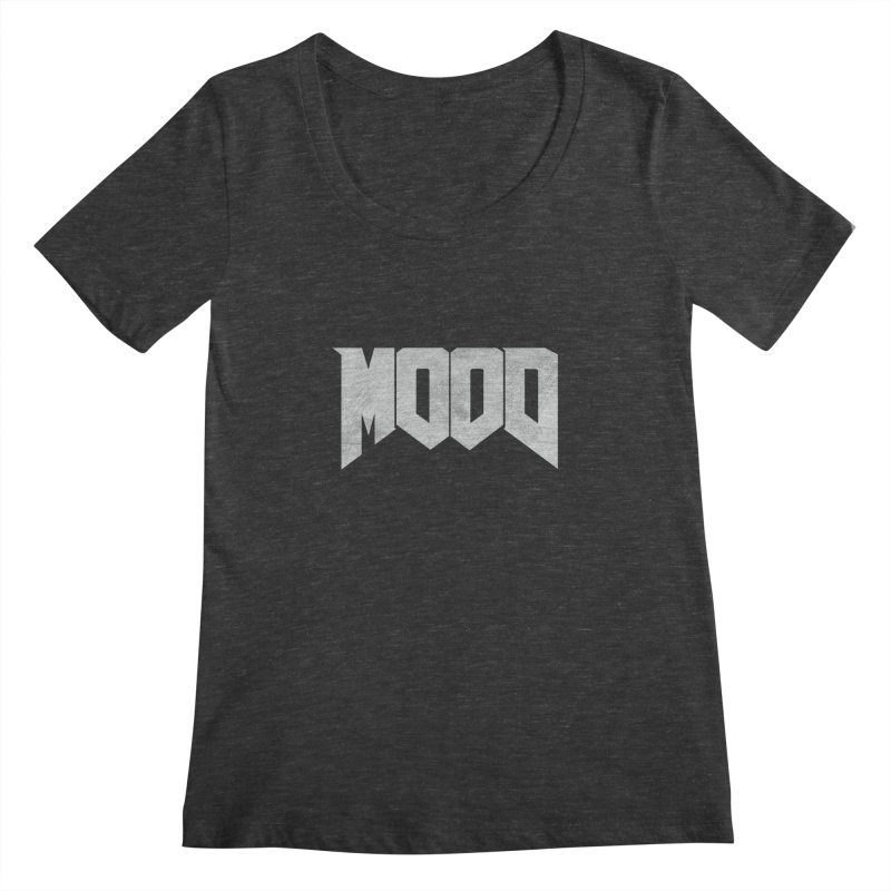 MOOD Women's Regular Scoop Neck by Tripledead Shop