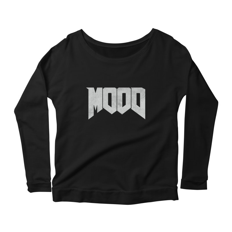 MOOD Women's Scoop Neck Longsleeve T-Shirt by Tripledead Shop