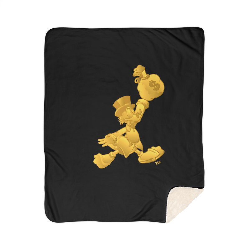 Air McDuck Home Sherpa Blanket Blanket by Tripledead Shop