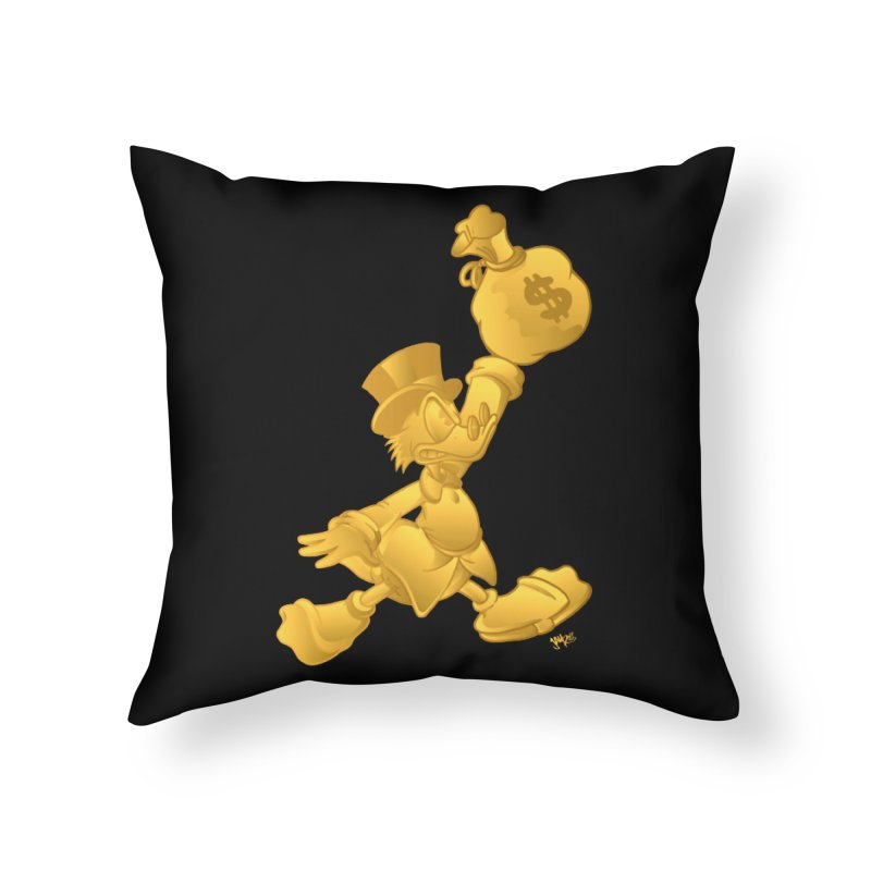 Air McDuck Home Throw Pillow by Tripledead Shop