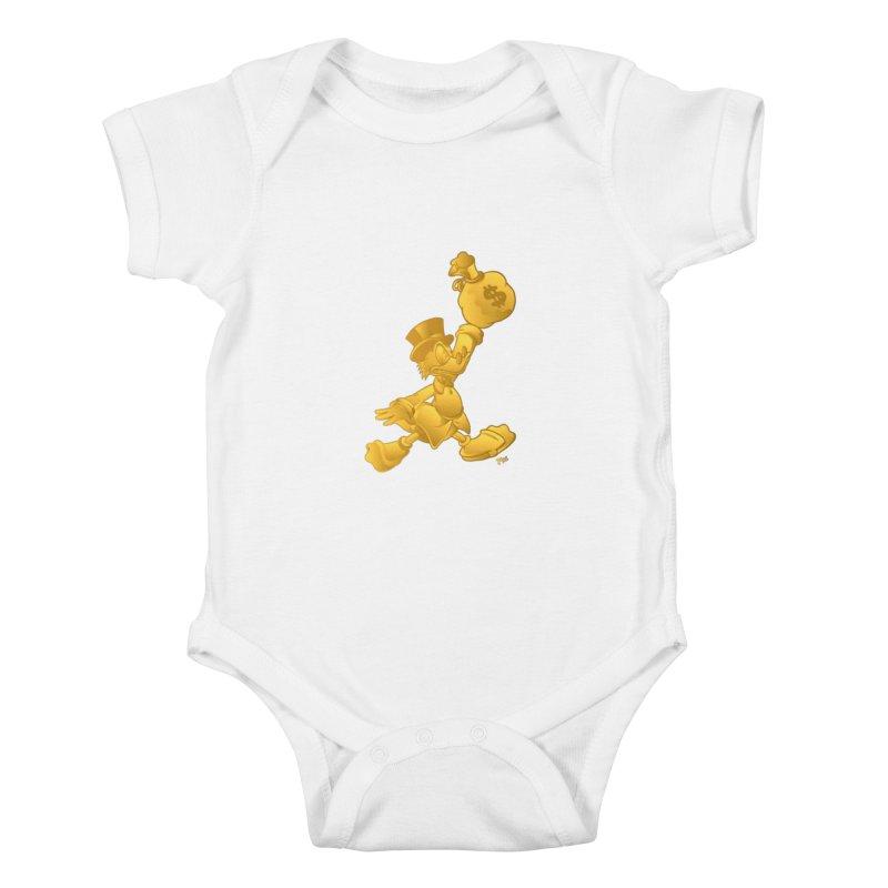 Air McDuck Kids Baby Bodysuit by Tripledead Shop