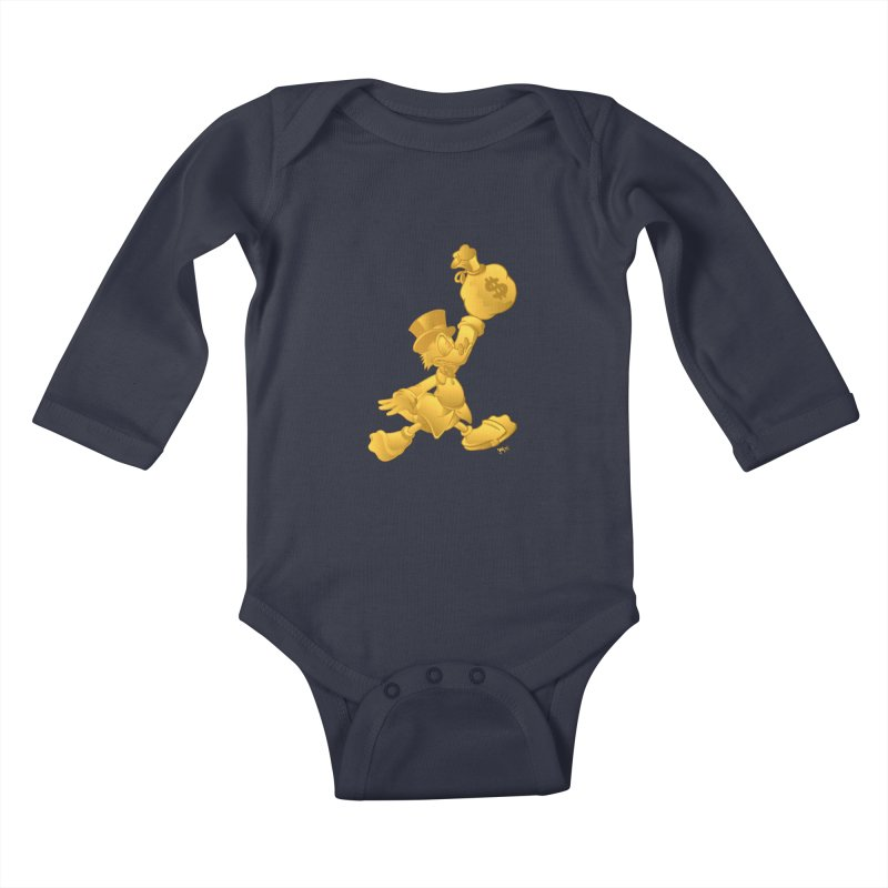 Air McDuck Kids Baby Longsleeve Bodysuit by Tripledead Shop
