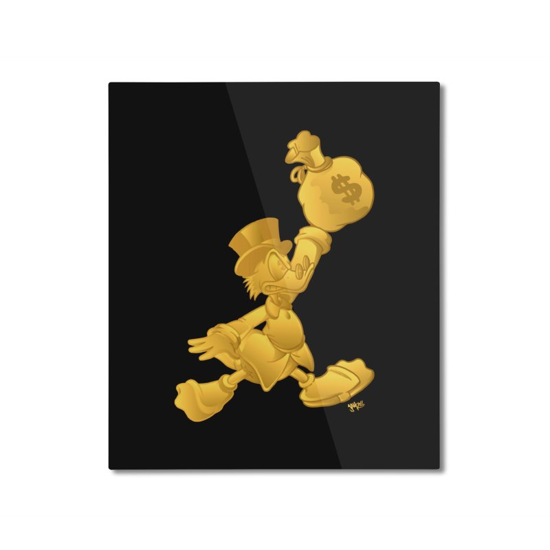 Air McDuck Home Mounted Aluminum Print by Tripledead Shop