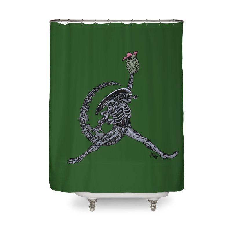 Air-lien Home Shower Curtain by Tripledead Shop