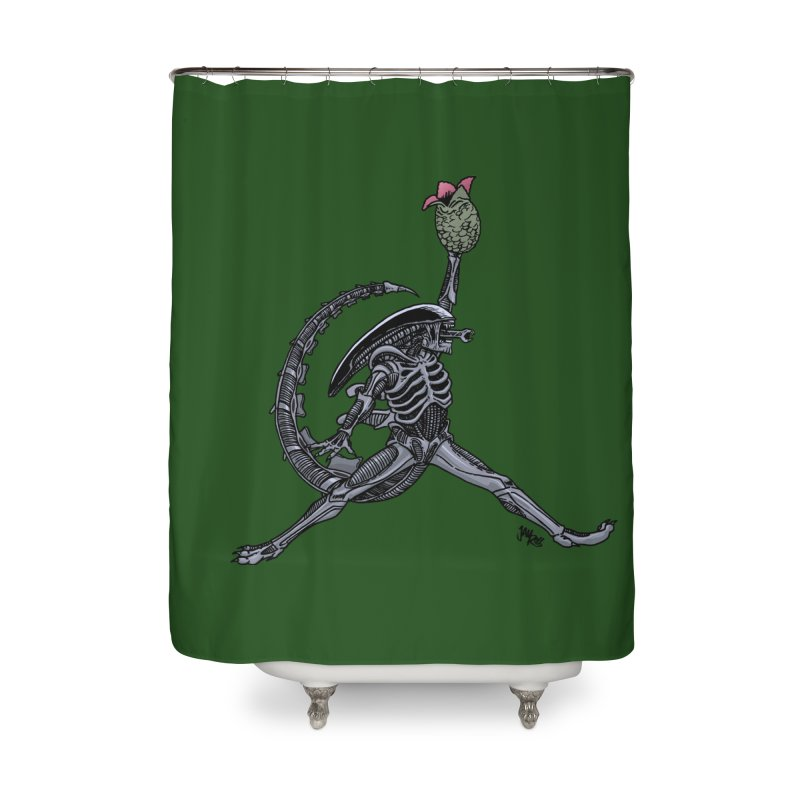 Air-lien Home Shower Curtain by Tripledead Shop