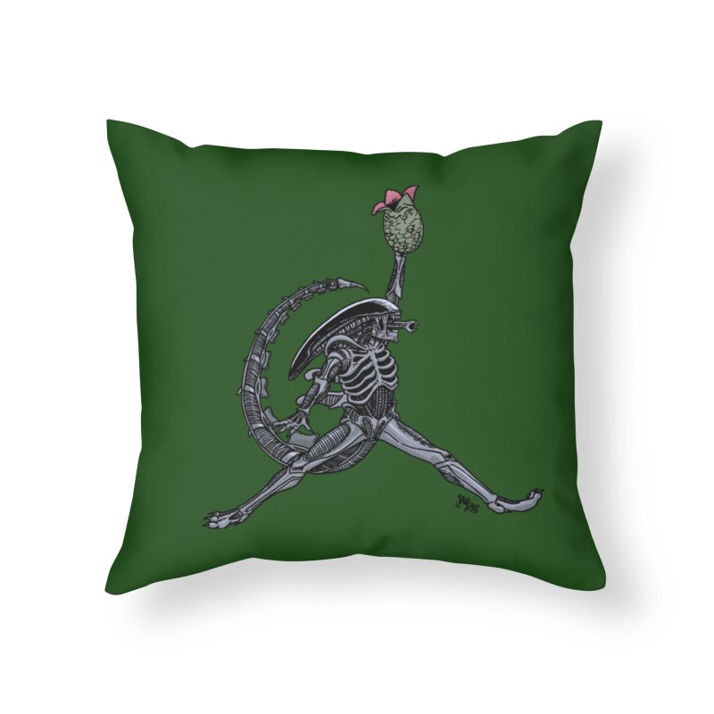 Air-lien Home Throw Pillow by Tripledead Shop