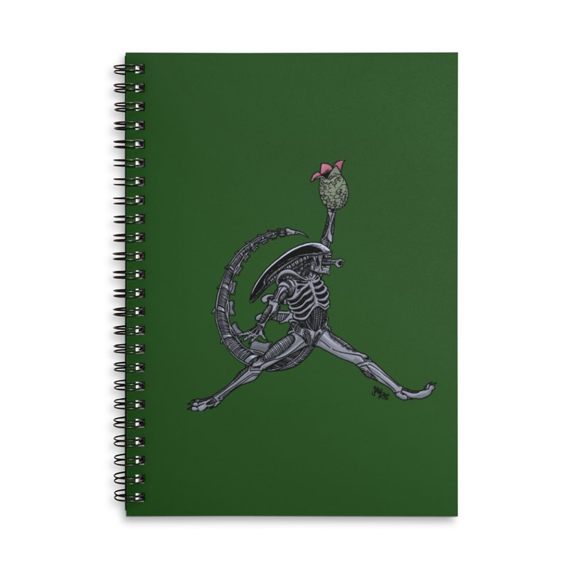Air-lien Accessories Lined Spiral Notebook by Tripledead Shop