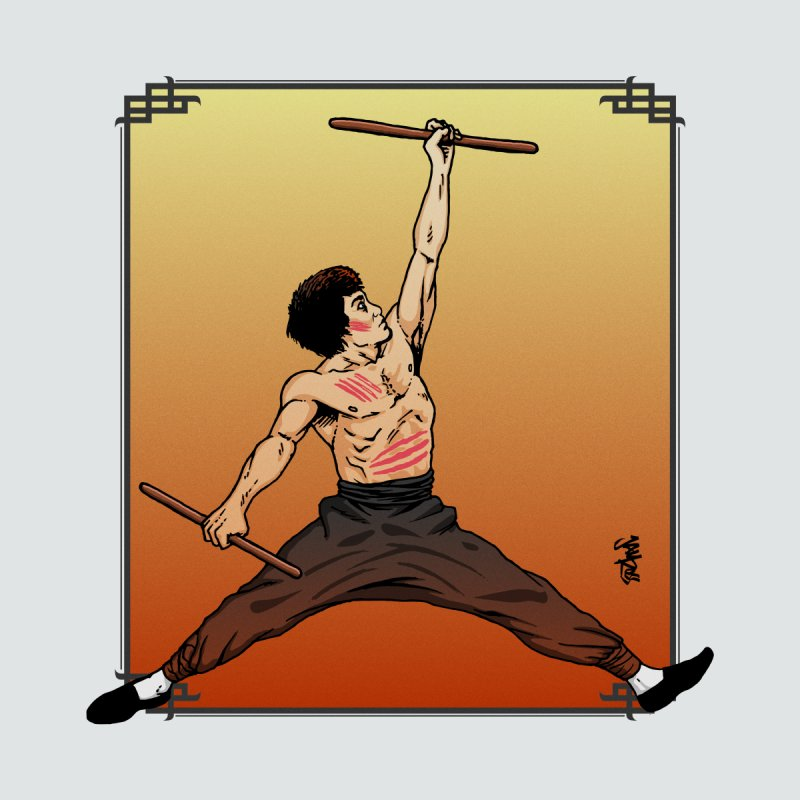 Air Bruce Home Stretched Canvas by Tripledead Shop