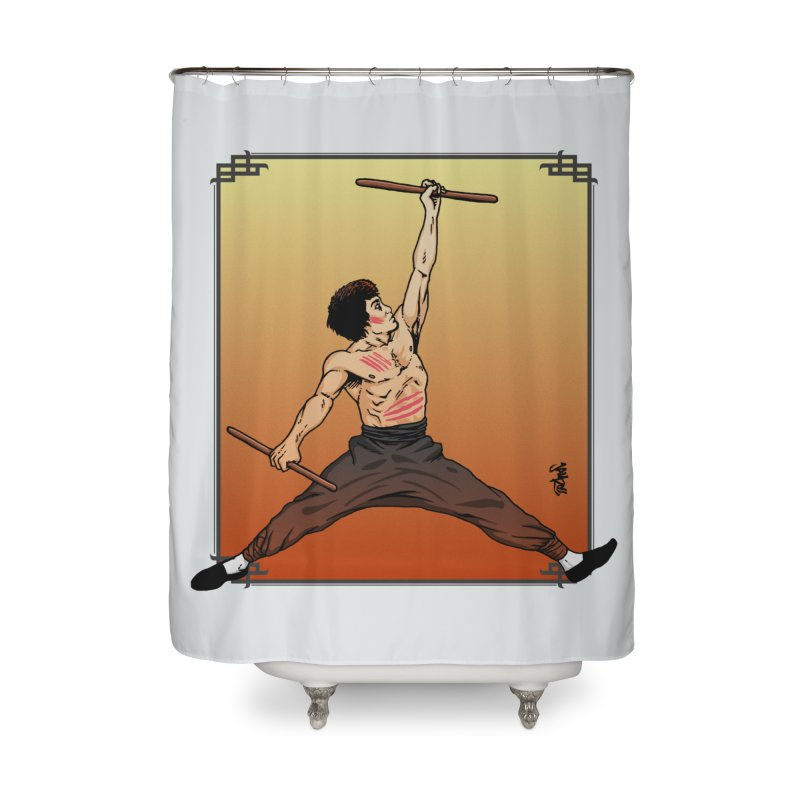 Air Bruce Home Shower Curtain by Tripledead Shop