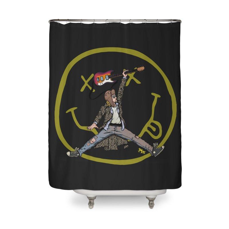 Air Cobain Home Shower Curtain by Tripledead Shop