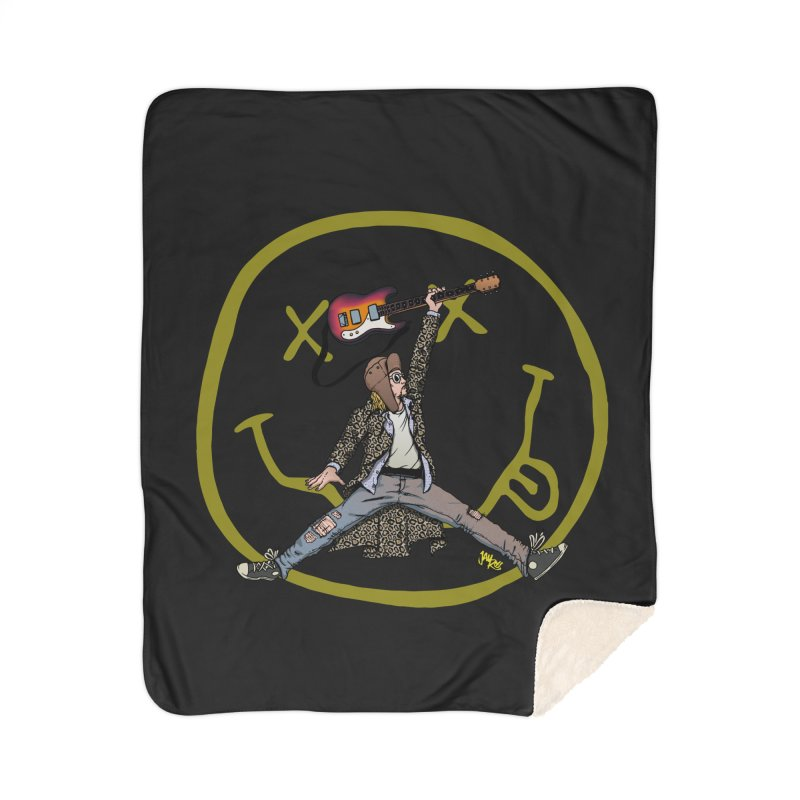 Air Cobain Home Sherpa Blanket Blanket by Tripledead Shop