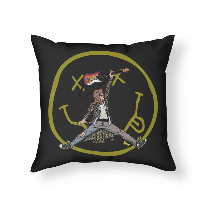 Air Cobain Home Throw Pillow by Tripledead Shop