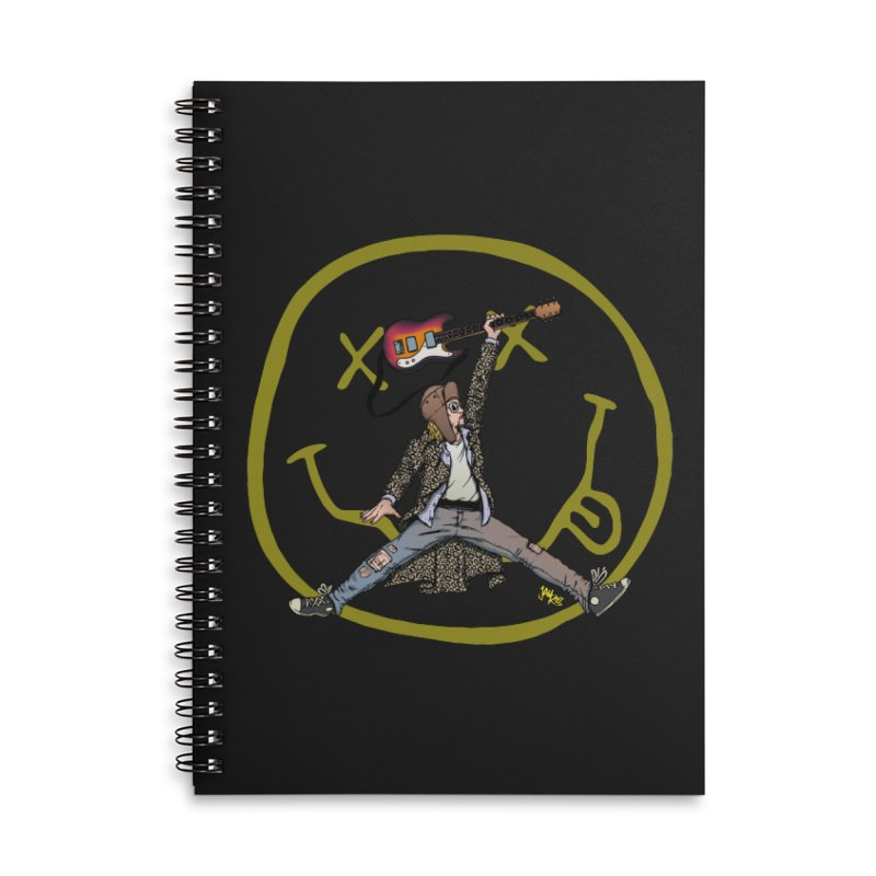 Air Cobain Accessories Lined Spiral Notebook by Tripledead Shop