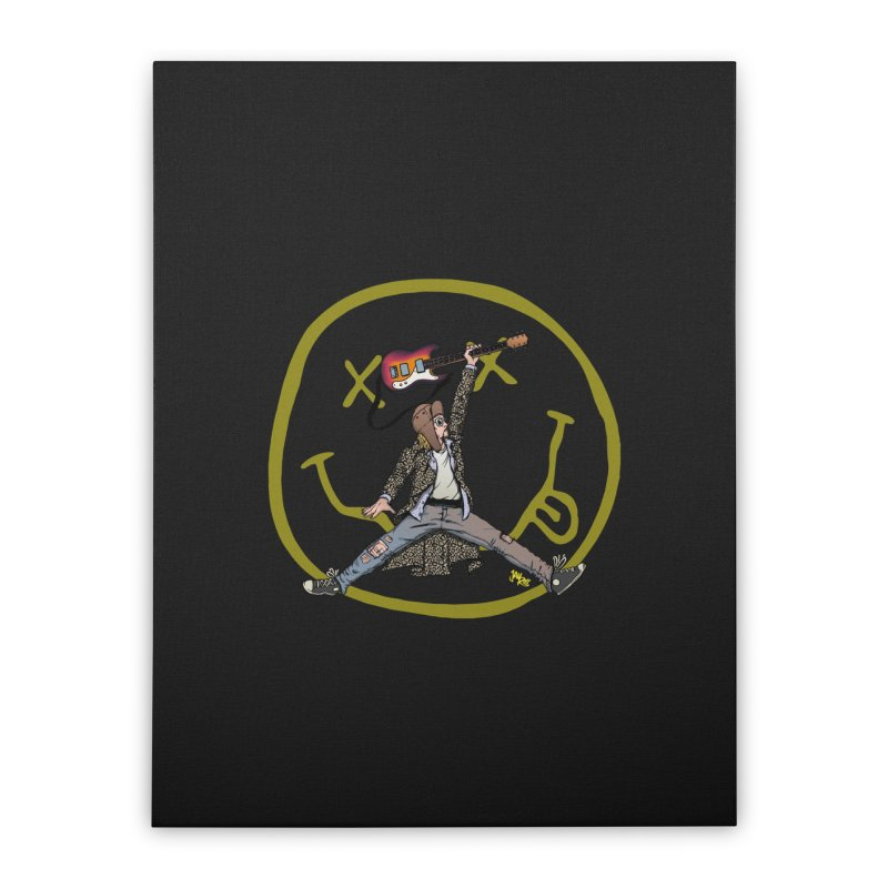 Air Cobain Home Stretched Canvas by Tripledead Shop