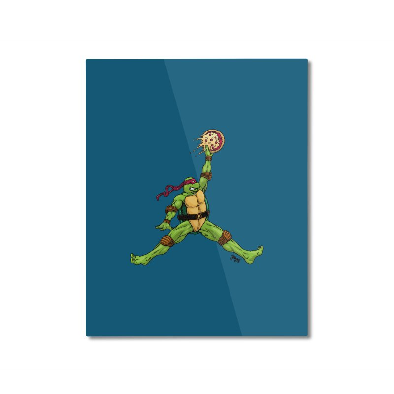 Air Raph Home Mounted Aluminum Print by Tripledead Shop