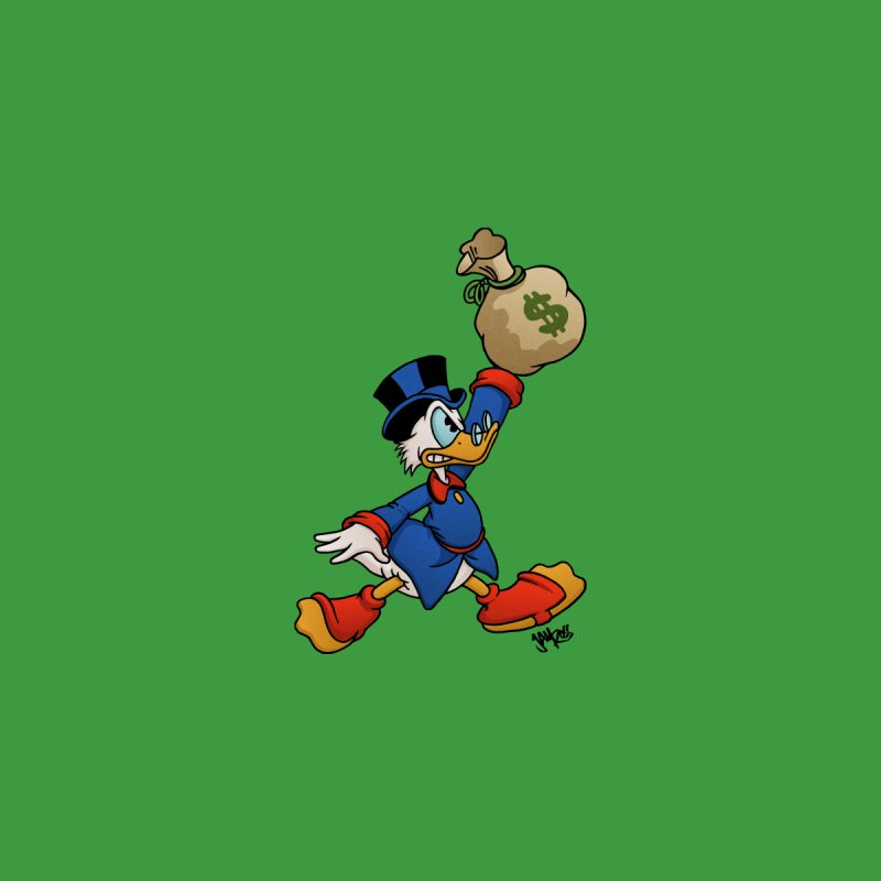 Air McDuck (full color) Home Mounted Aluminum Print by Tripledead Shop