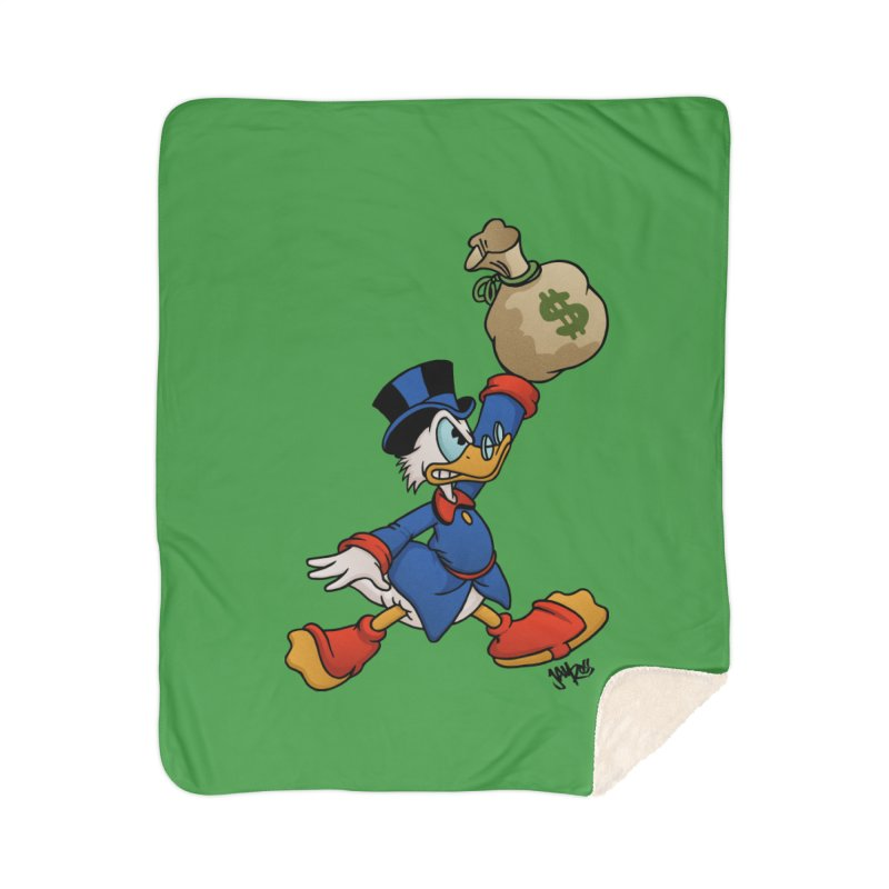 Air McDuck (full color) Home Sherpa Blanket Blanket by Tripledead Shop