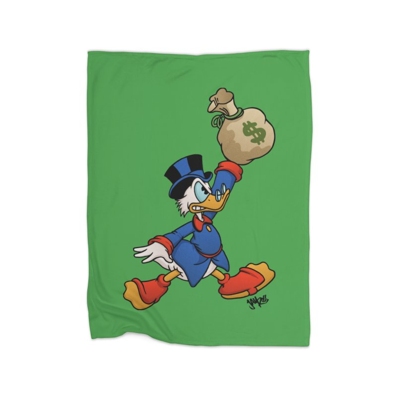 Air McDuck (full color) Home Fleece Blanket Blanket by Tripledead Shop