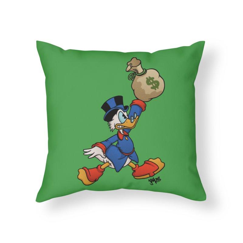 Air McDuck (full color) Home Throw Pillow by Tripledead Shop