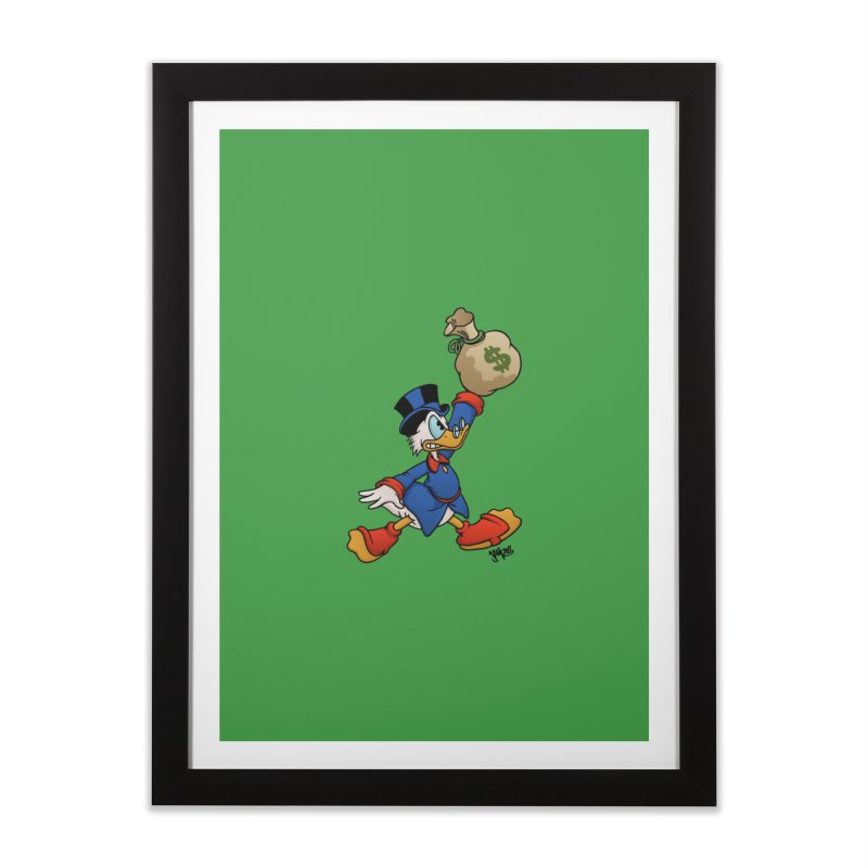 Air McDuck (full color) Home Framed Fine Art Print by Tripledead Shop