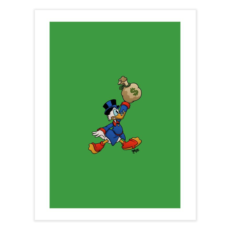 Air McDuck (full color) Home Fine Art Print by Tripledead Shop