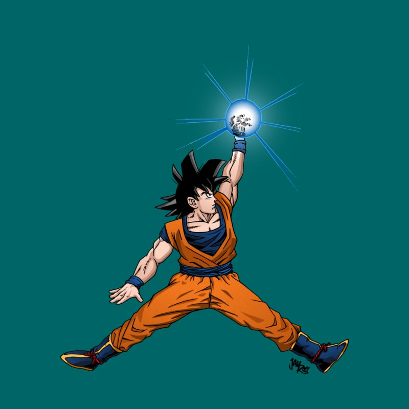 Air Goku Home Mounted Aluminum Print by Tripledead Shop