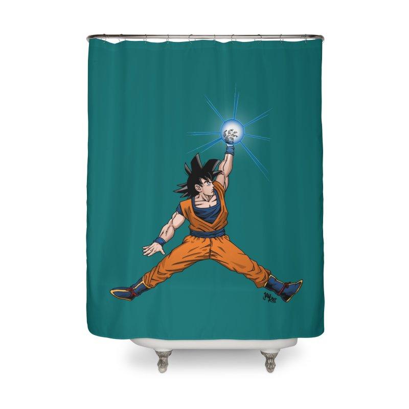 Air Goku Home Shower Curtain by Tripledead Shop