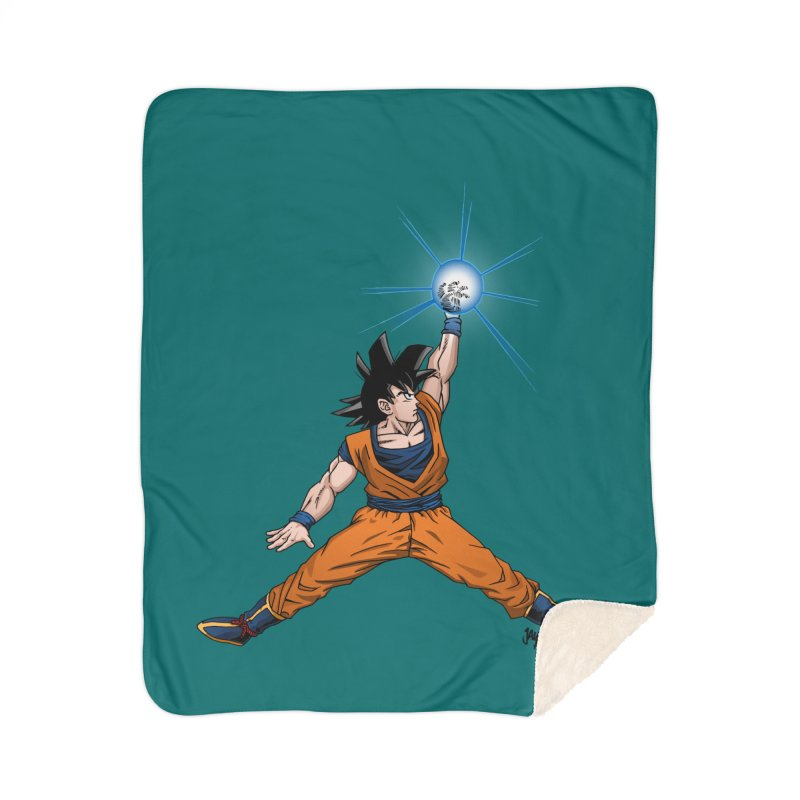 Air Goku Home Sherpa Blanket Blanket by Tripledead Shop