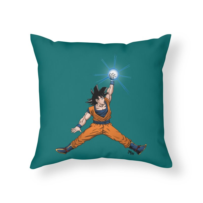 Air Goku Home Throw Pillow by Tripledead Shop