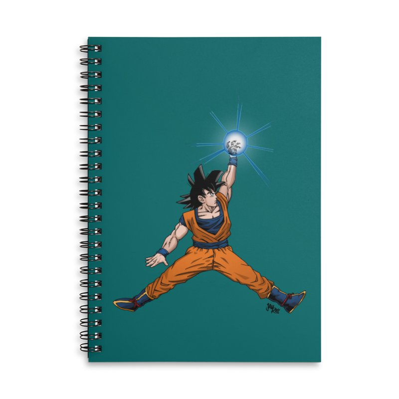 Air Goku Accessories Lined Spiral Notebook by Tripledead Shop