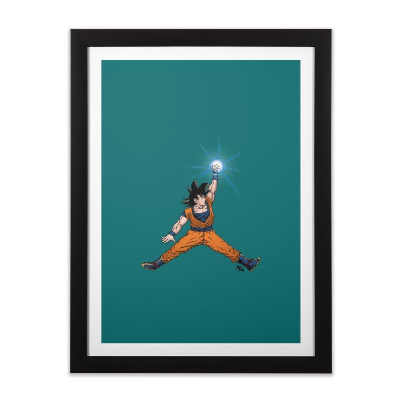 Air Goku Home Framed Fine Art Print by Tripledead Shop