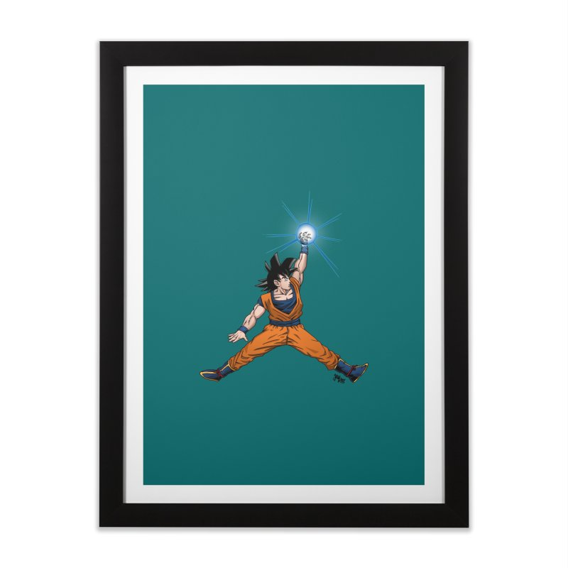 Air Goku Home Framed Fine Art Print by Tripledead Shop