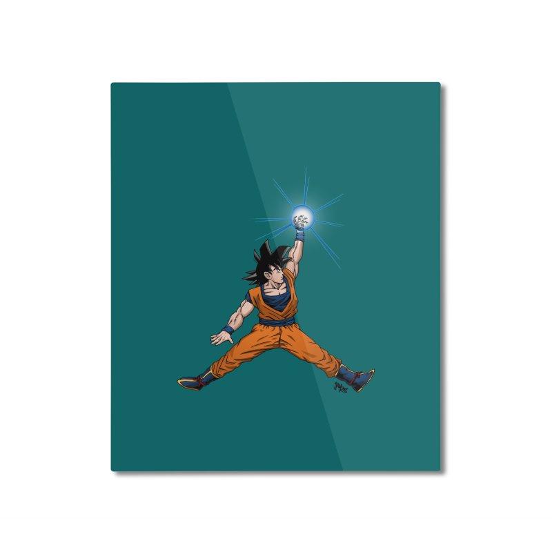 Air Goku Home Mounted Aluminum Print by Tripledead Shop