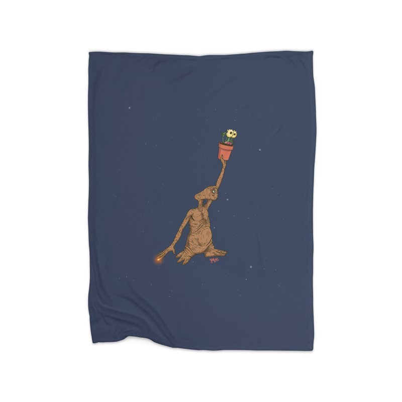 Air E.T. Home Fleece Blanket Blanket by Tripledead Shop