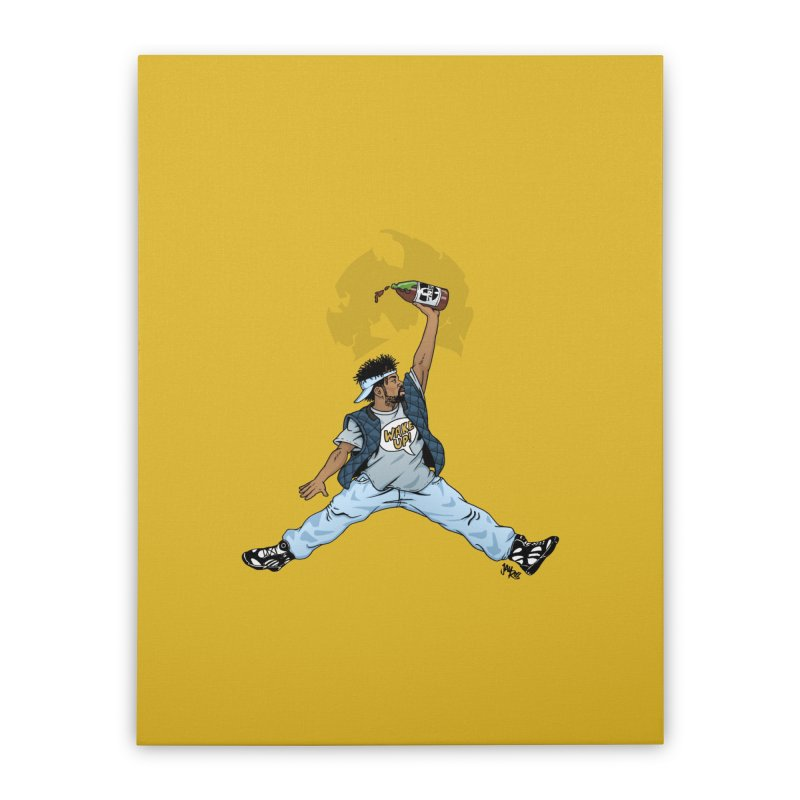 Air Mef Home Stretched Canvas by Tripledead Shop