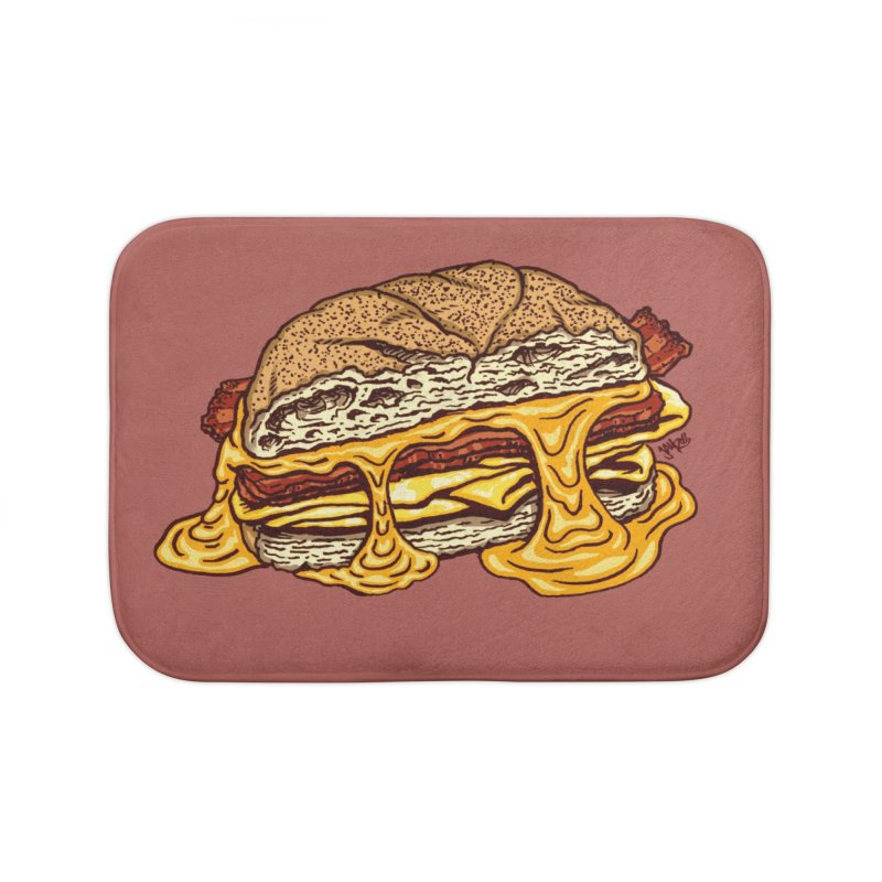 Baconeggandcheese Home Bath Mat by Tripledead Shop