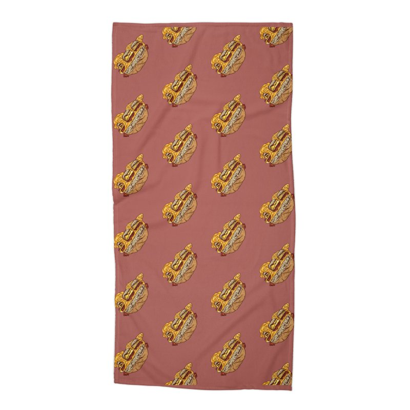 Baconeggandcheese Accessories Beach Towel by Tripledead Shop