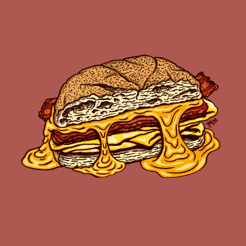 Baconeggandcheese Men's Longsleeve T-Shirt by Tripledead Shop