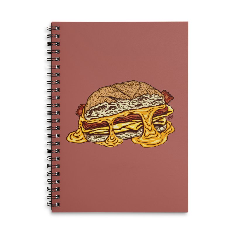Baconeggandcheese Accessories Lined Spiral Notebook by Tripledead Shop