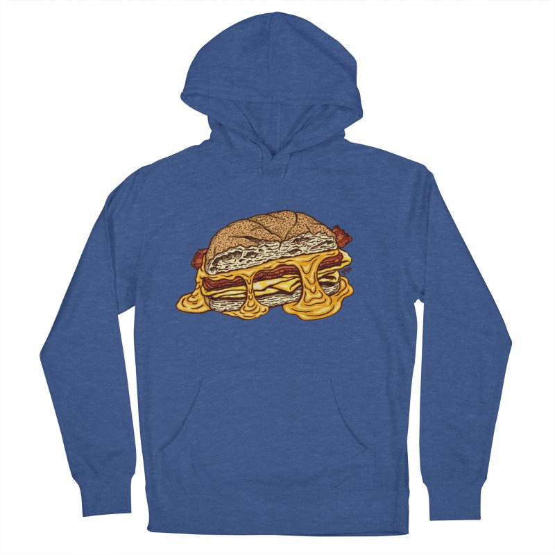 Baconeggandcheese Men's French Terry Pullover Hoody by Tripledead Shop