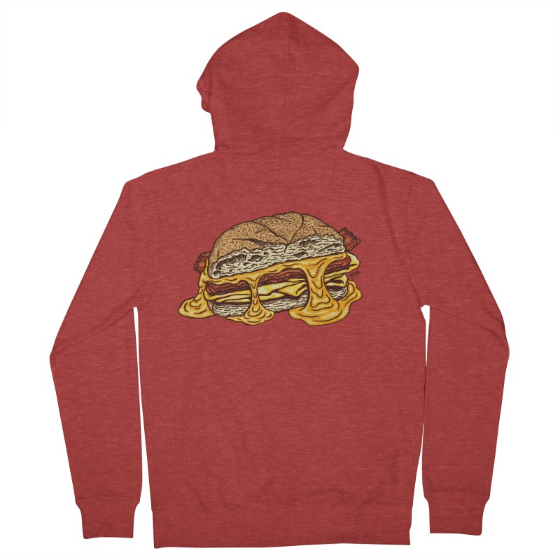 Baconeggandcheese Women's French Terry Zip-Up Hoody by Tripledead Shop