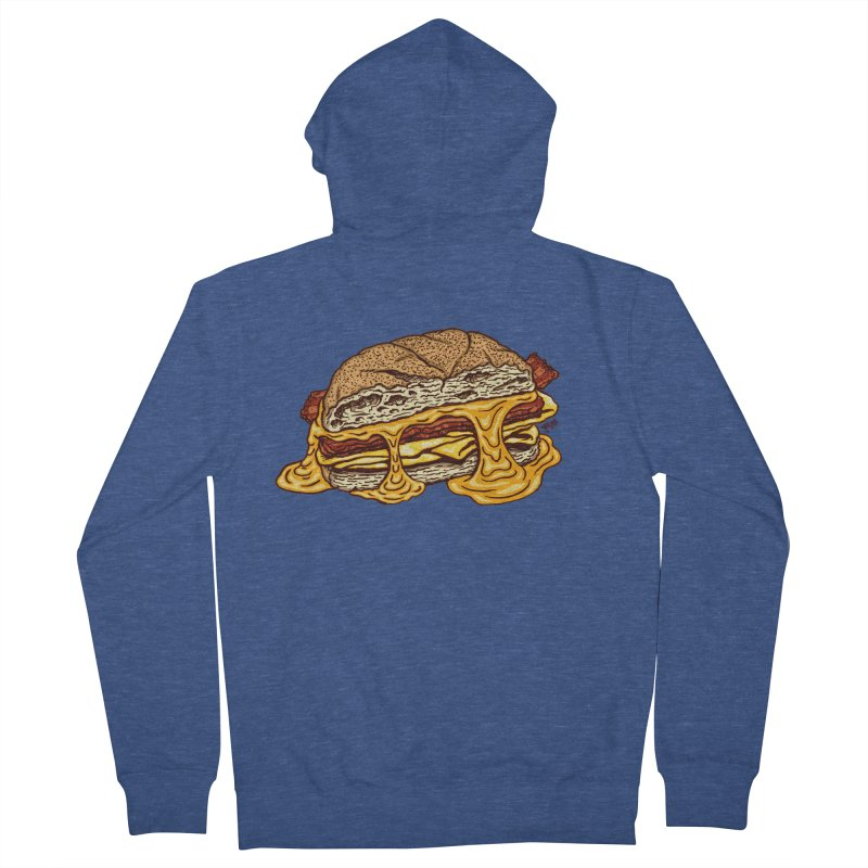 Baconeggandcheese Men's Zip-Up Hoody by Tripledead Shop