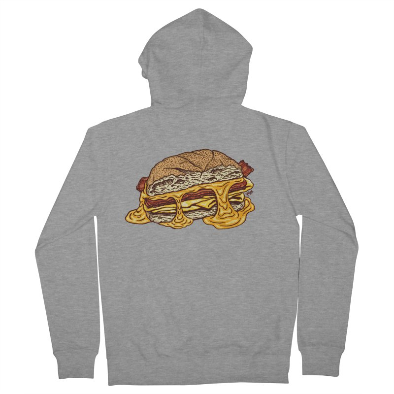 Baconeggandcheese Men's French Terry Zip-Up Hoody by Tripledead Shop