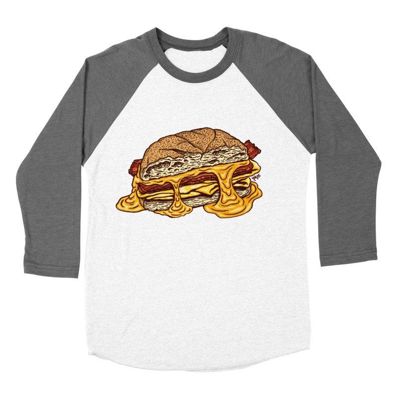 Baconeggandcheese Women's Baseball Triblend Longsleeve T-Shirt by Tripledead Shop