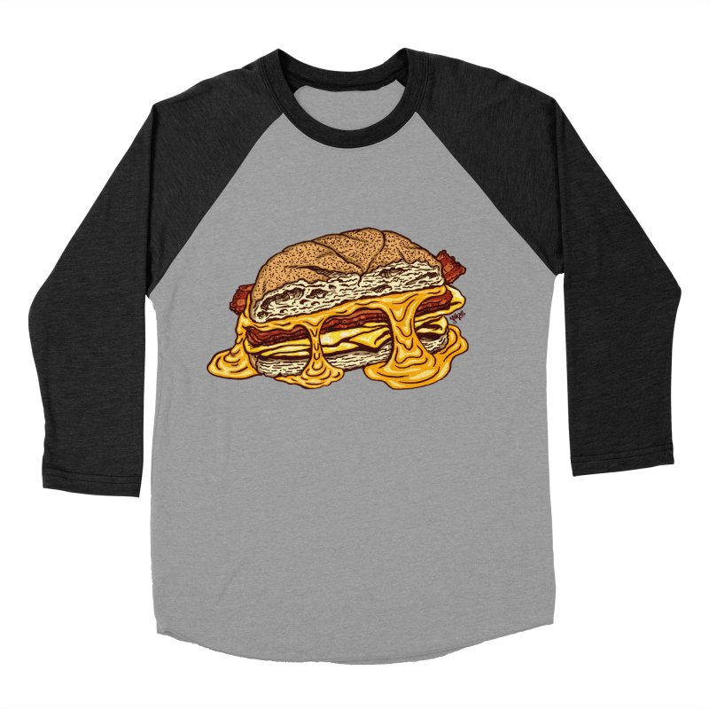 Baconeggandcheese Men's Baseball Triblend Longsleeve T-Shirt by Tripledead Shop