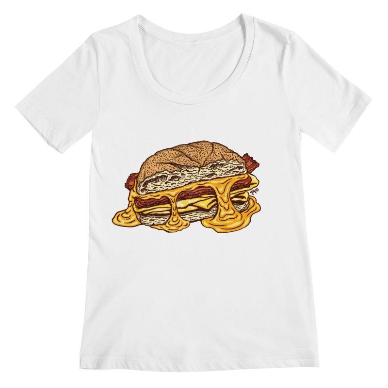Baconeggandcheese Women's Regular Scoop Neck by Tripledead Shop