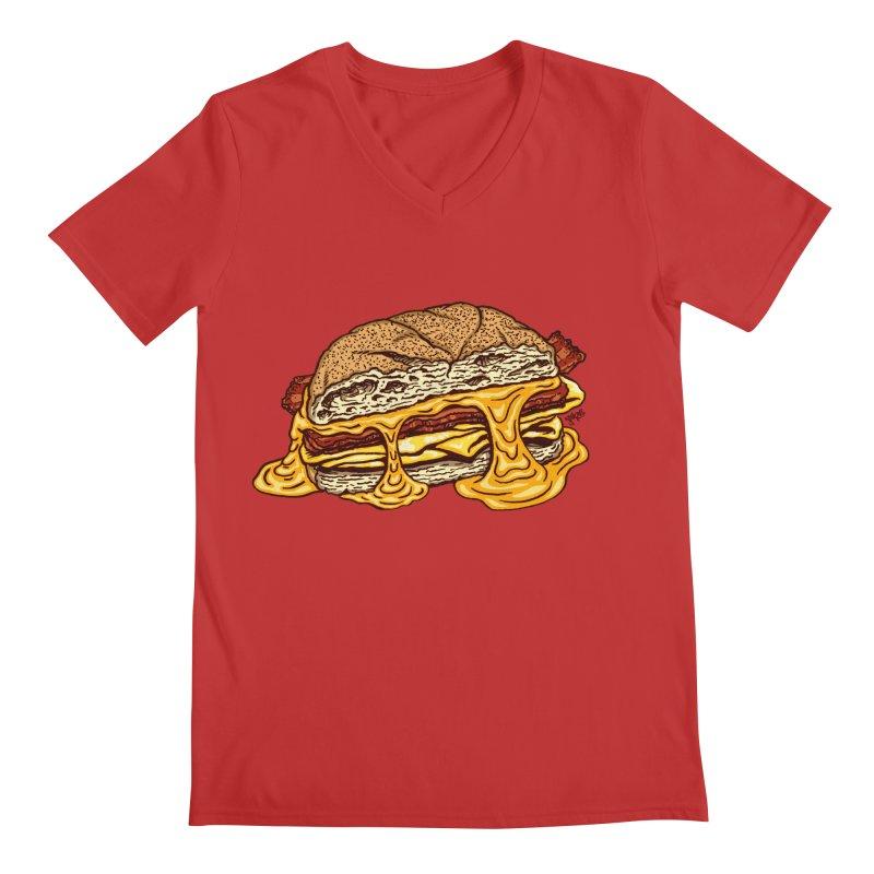 Baconeggandcheese Men's Regular V-Neck by Tripledead Shop
